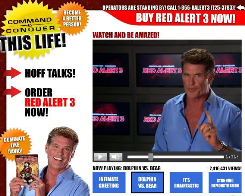 The Hoff Shills for C&C