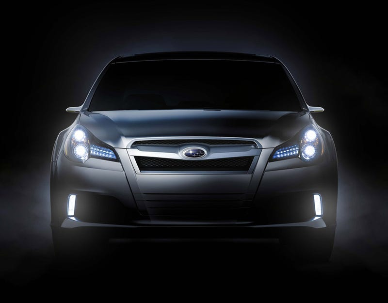 Subaru Legacy Concept Teased Ahead Of Detroit
