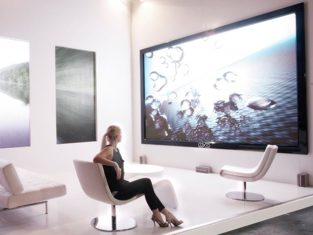 Introducing the 205-inch Technovision Luxio LED TVLCD HDTV : Big Enough to Park Two Mini Coopers On