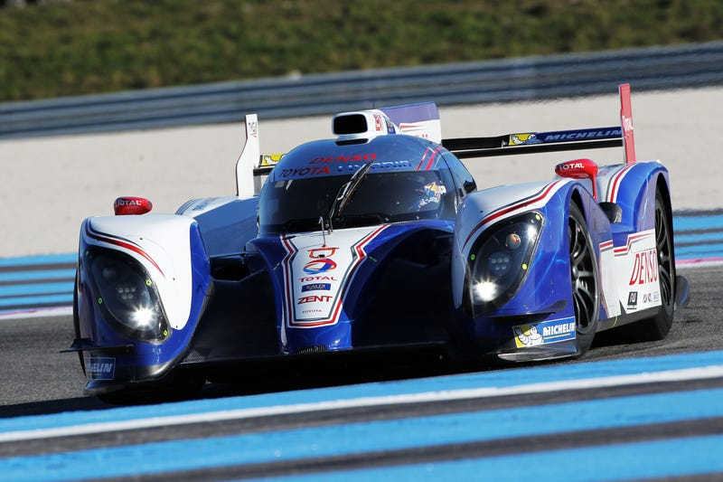 This is your 2013, WEC and Le Mans challenger, the Toyota TS030 hybrid.