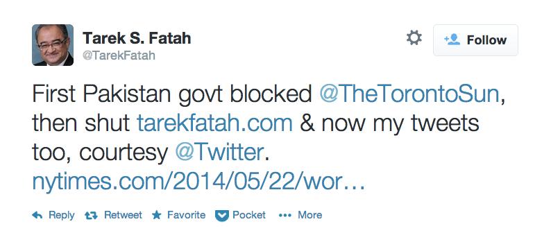 "Twitter Censors ""Blasphemous"" Tweets to Oblige a Pakistani Bureaucrat"