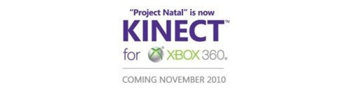 Kinect Will Be Out In November