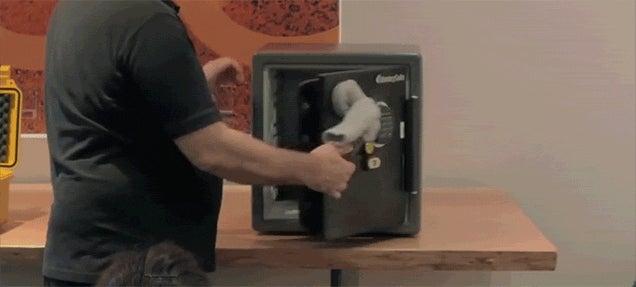 Watch a Magnet Inside a Sock Break Open a Safe in Seconds