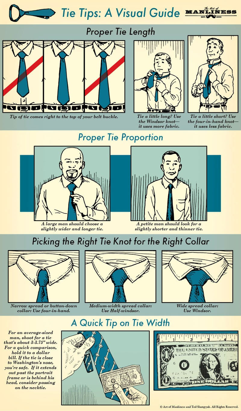 This Infographic Shows You How to Wear a Tie with Style