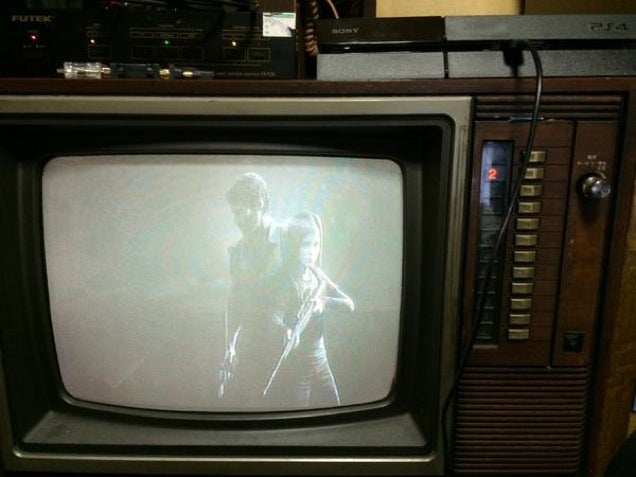The Last of Us Demastered on a Standard TV