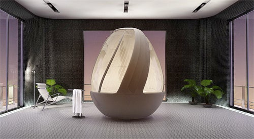 Cocoon Egg Shower Concept Let's You Pretend You're In Darth Vader's Isolation Pod Gallery