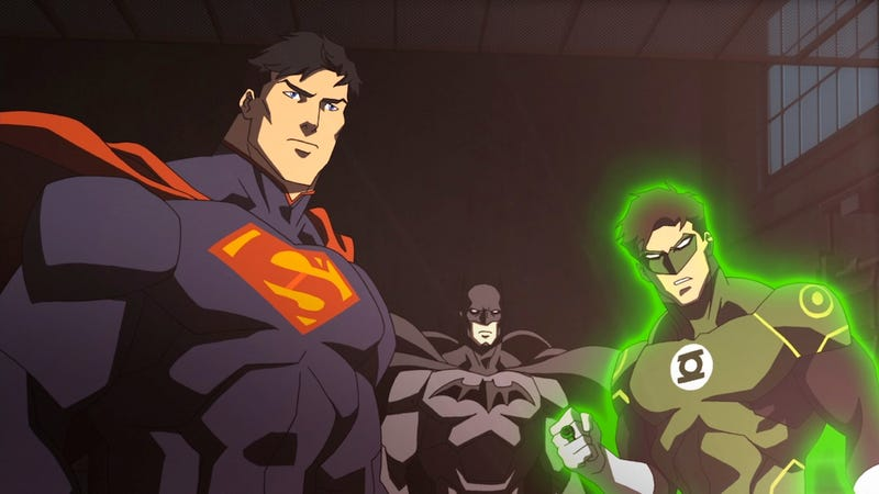 I'm watching Justice League War...