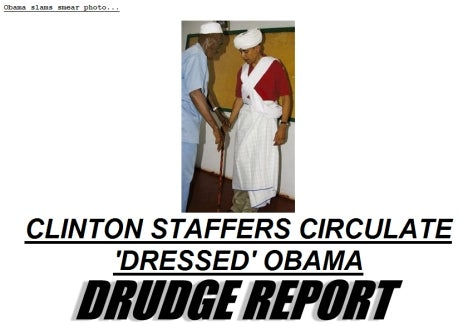 Obama-in-Dress Photo Backfires on Clinton