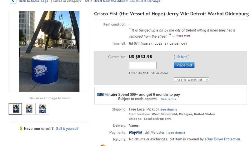Bid On Detroit's 'Crisco Fist' For Your Lard-Mimicking Fisting Pleasure
