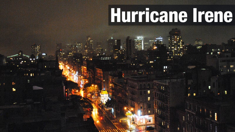 Live from New York: Hurricane Irene