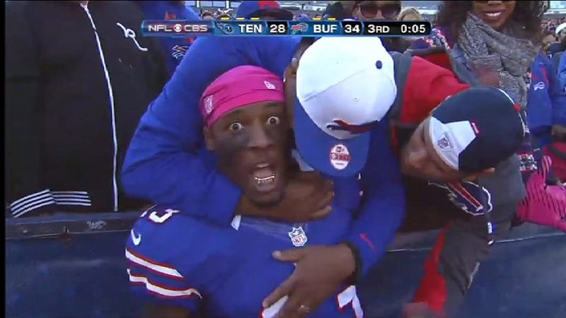 Stevie Johnson Learned The Hard Way That Celebrating A Touchdown With Fans Can Be Dangerous