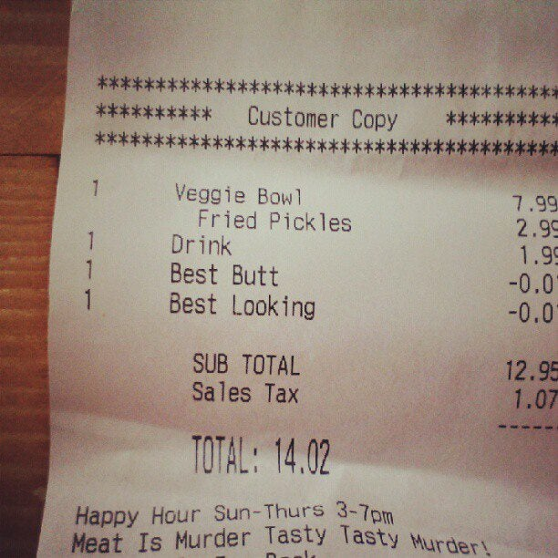 Restaurant Gives Patron Two-Cent Discount for Being the 'Best Looking' and Having the 'Best Butt'