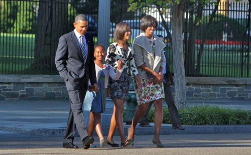"The Obamas' Sunday Best Is, In Fact, Pretty ""Best"""
