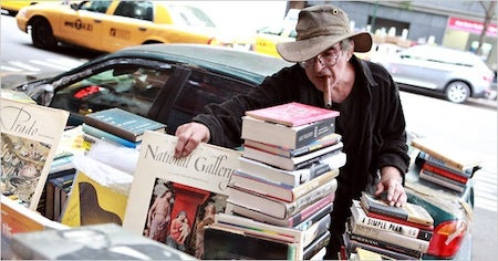Manhattan's mysterious book-filled car