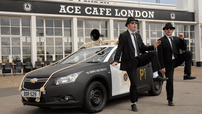 Chevy craps on John Belushi's grave with Blues Brothers Cruze