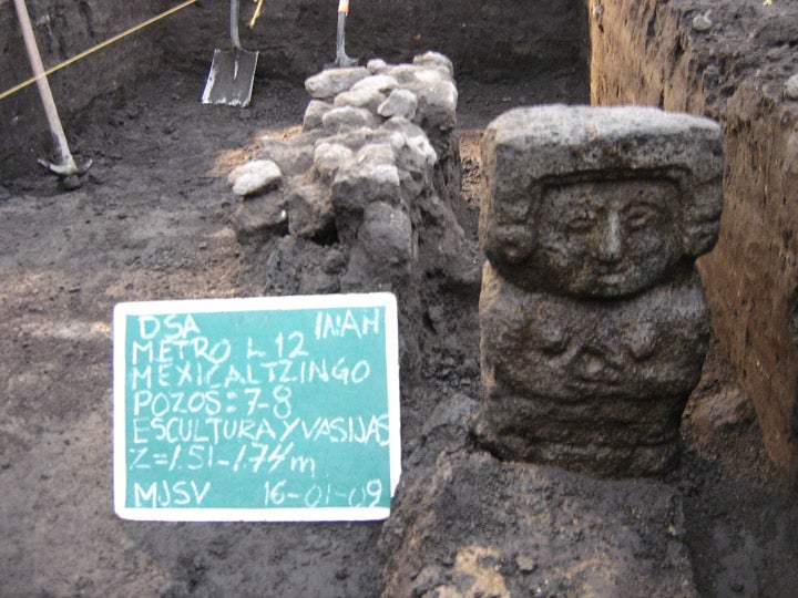 Archaeologists Discover Aztec Ritual Skulls Under Mexico City's Subway