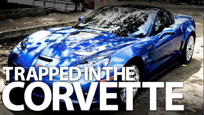 Corvette ZR1 owner calls 911 after locking himself in car