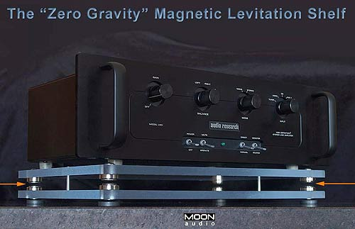 Levitate Your Stereo Like All Real Audiophiles Do With the Zero Gravity Shelf