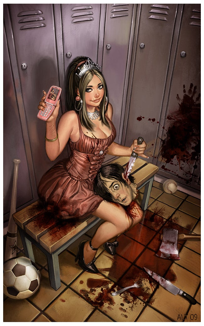 Pinup art that kicks you in the teeth