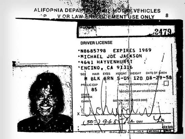 Behold: Michael Jackson's Frightening Driver's License Picture