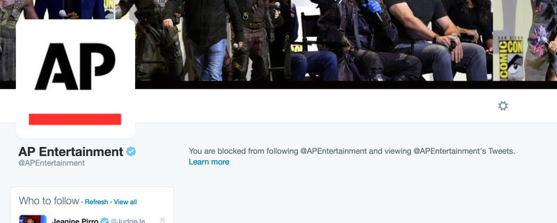 Why Is the Associated Press Trying to Prevent Me From Receiving Up-to-the-Minute Entertainment Coverage?