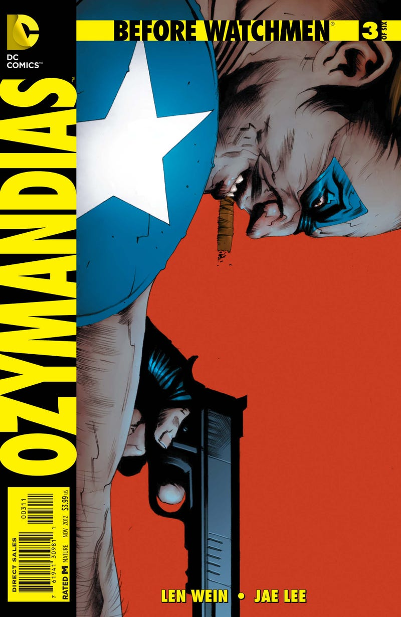Jae Lee draws Ozymandias versus the Comedian, in this Before Watchmen preview