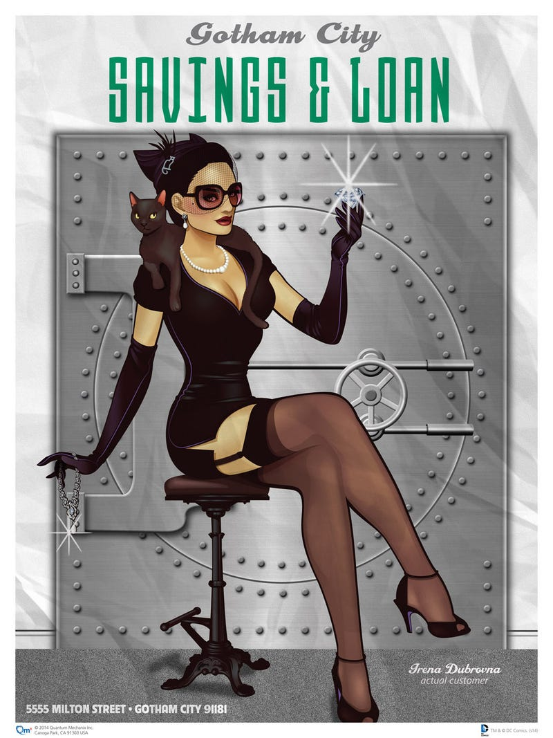 Show Your Love For DC Comics Heroines With These Dreamy 1940s Pin-Ups!