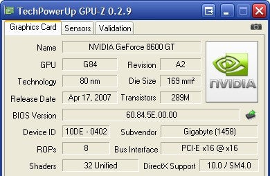 GPU-Z Retrieves Your Video Card's Stats