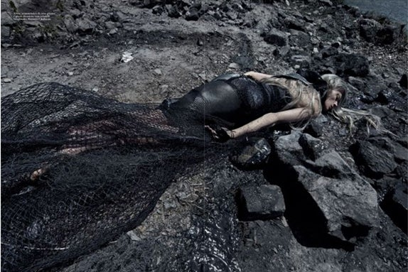 Vogue Italia's Awful Oil Spill Fashion Shoot