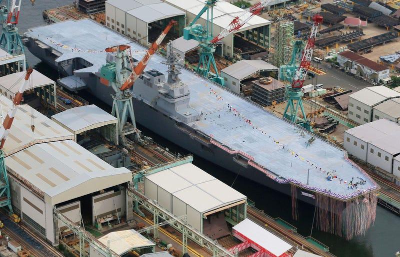 Japón revela su mayor nave de guerra desde la Segunda Guerra Mundial