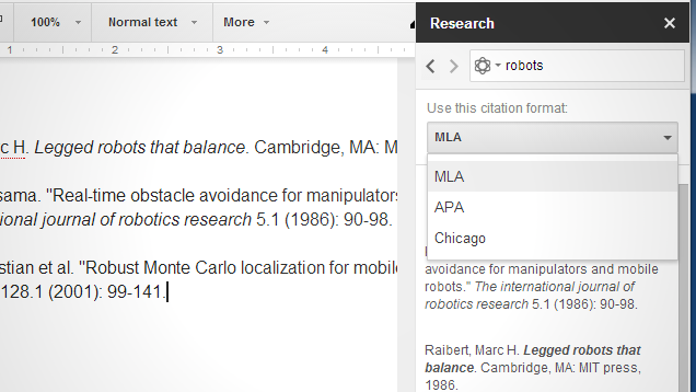 Insert Citations in Multiple Formats Easily with Google Docs