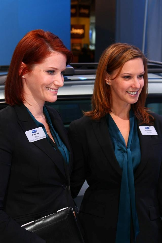 Booth Professionals Of The 2009 Detroit Auto Show