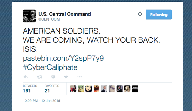 ISIS Sympathizers Hijack U.S. Military Social Media Accounts