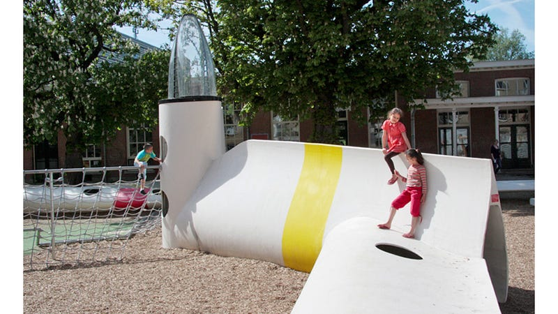 Retired Wind Turbines Make For Fantastic Playground Equipment