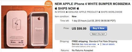 eBay Sellers Flogging iPhone 4 Bumpers for $100