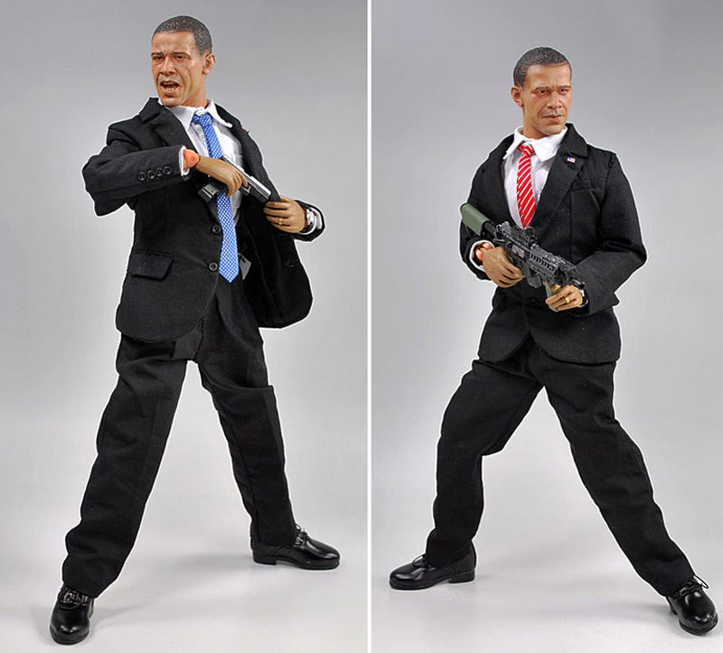 Barack Obama Doll Relaxes With Miniature Famicom