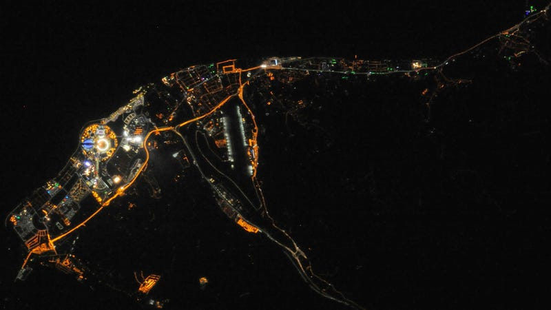 You can see the Olympic Flame from space