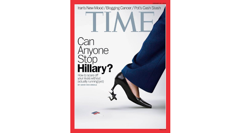 Time Hillary Clinton Cover Features Giant, Mean Lady High Heel