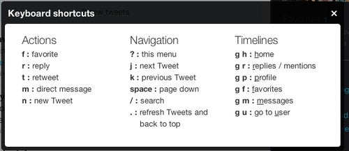 Twitter Beefs Up Navigation with More Great Keyboard Shortcuts