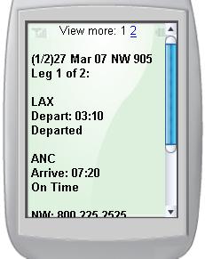 Google SMS adds flight info