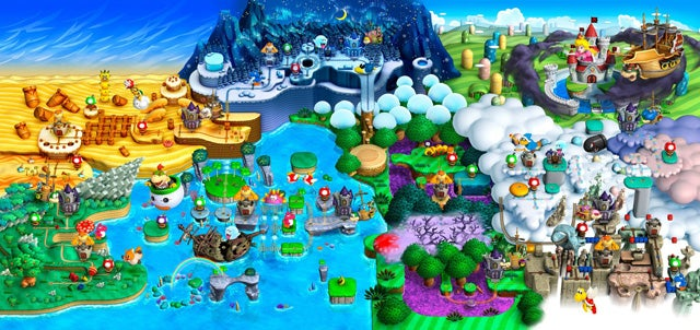 Beautiful Video Game World Maps