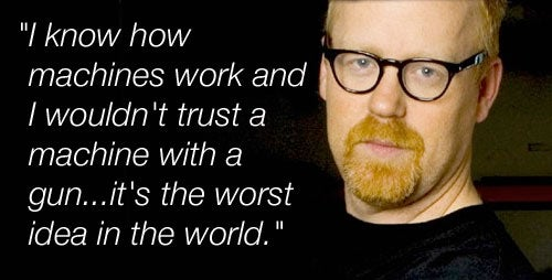 Mythbusters' Adam Savage Doesn't Trust Robots