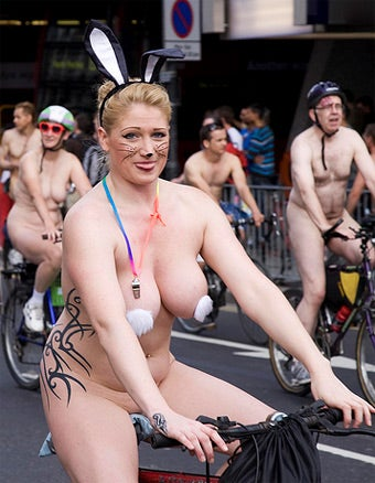 Why Do Naked People Always Want To Be On Bicycles?