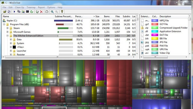 Most Popular Hard Drive Space Analyzer: WinDirStat