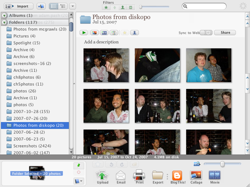 Picasa for Mac Beta Released, First Look