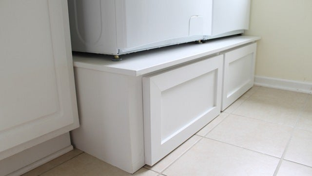 how to build a stand for washer and dryer