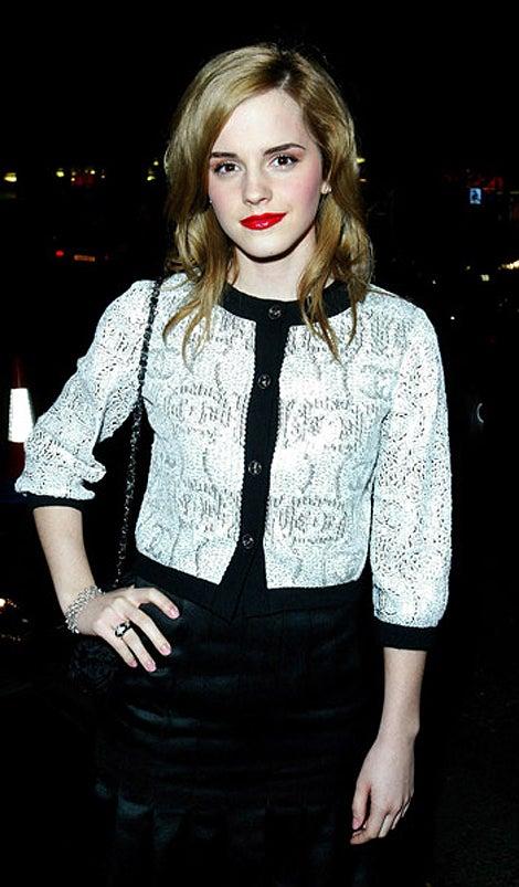 Emma Watson's Grown-Up Red Lipstick, Chanel Jacket