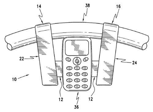 Steering Wheel Mounted Cellphone Holder