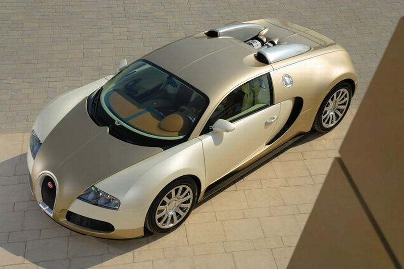Gold-Plated Bugatti Veyron: So Ridiculous, It's Normal
