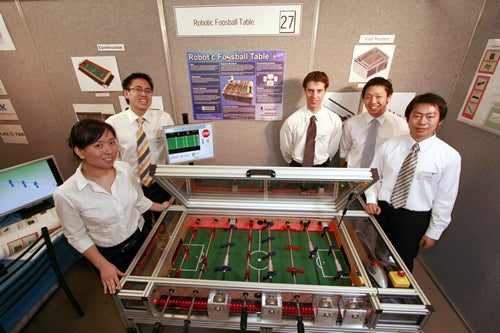 Robotic Foosball Table Can School Human Players